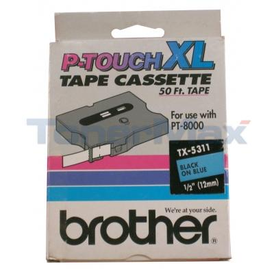 BROTHER P-TOUCH TAPE BLACK/BLUE (1/2 X 50)
